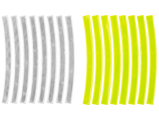 M-Wave Stripes Reflecterende Stickers 3m, yellow/white